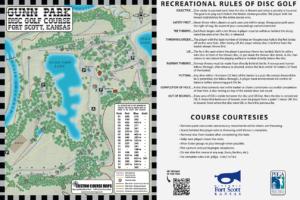 Kiosk map for Gunn Park in Fort Scott, KS