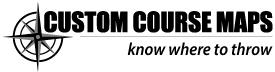 Custom Course Maps - know where to throw logo